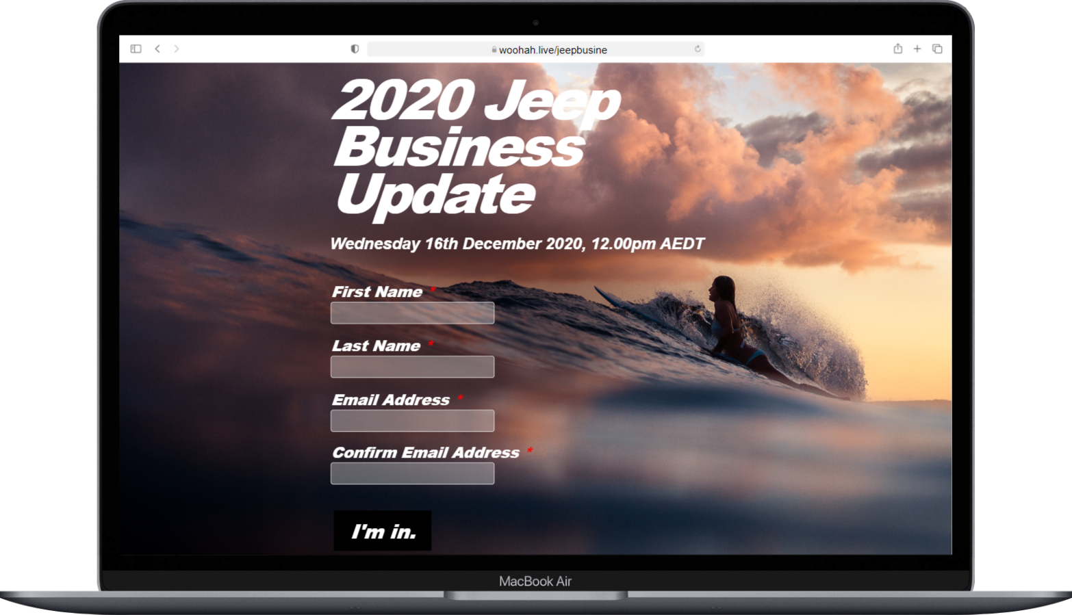 Jeep Business Update